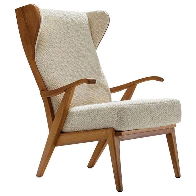 'Wingback' Chair by Danish Cabinetmaker Søren Willadsen, Denmark, 1960s For Sale