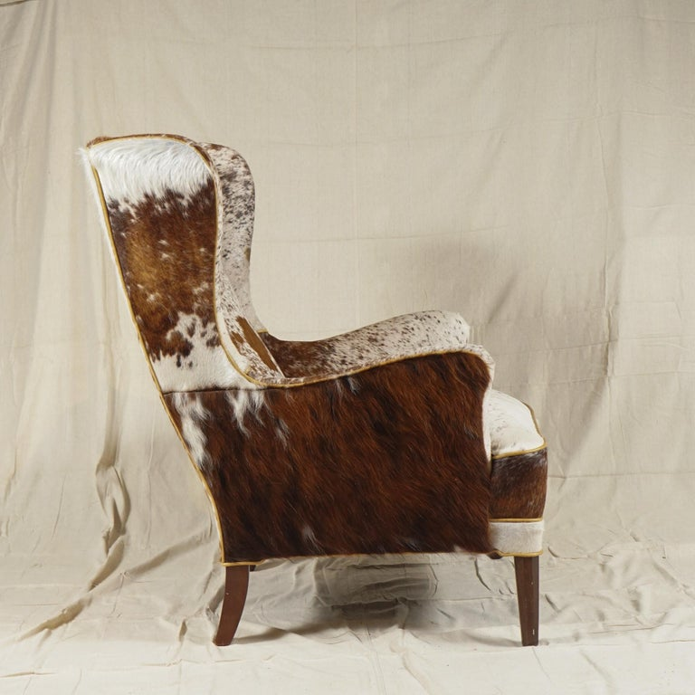 Danish Wingback Chair by Frits Henningsen For Sale