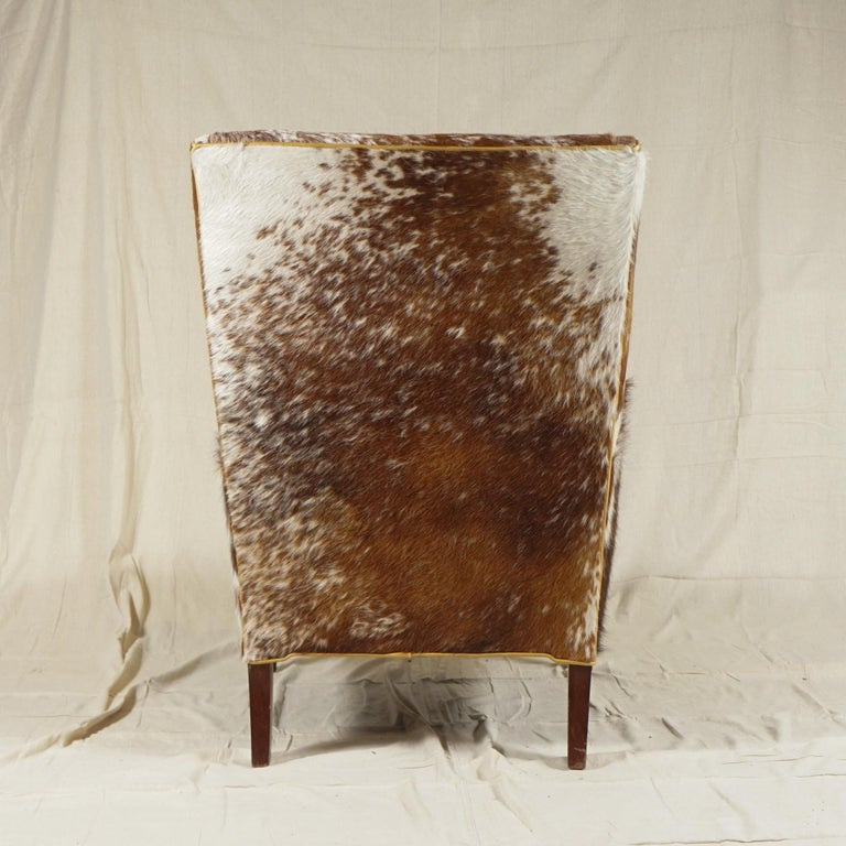 Wingback Chair by Frits Henningsen In Good Condition For Sale In Hudson, NY
