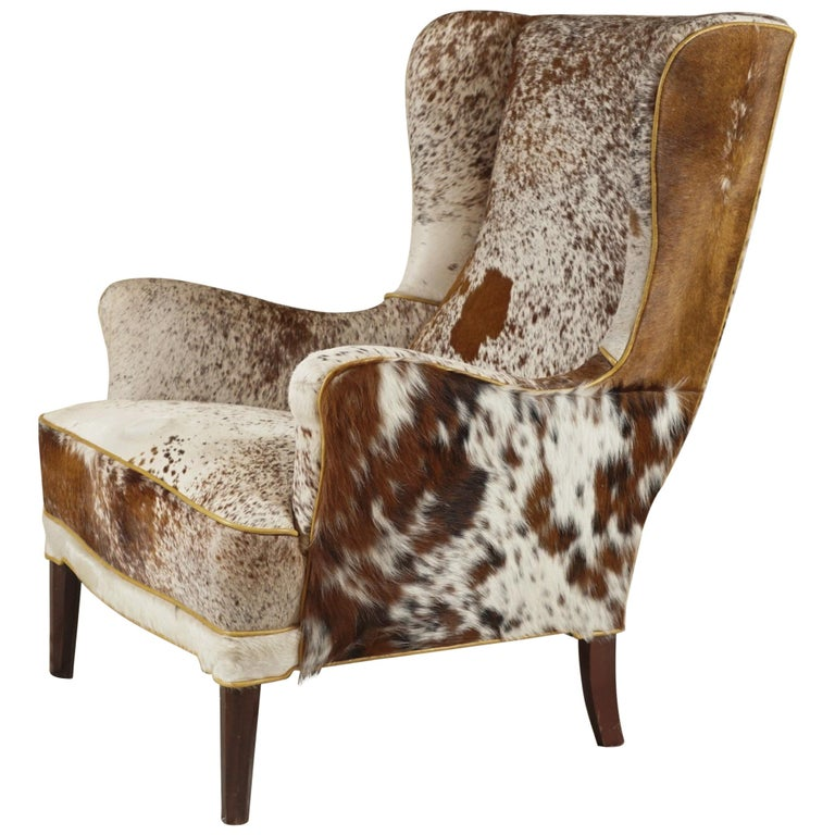 Wingback Chair by Frits Henningsen For Sale