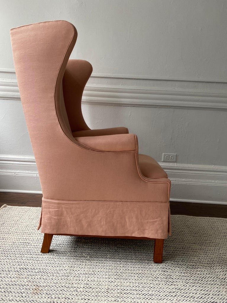 Wingback chair designed by Hans Thomas Jensen and made by Jacob Kjaer 