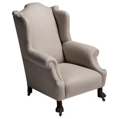 Wingback Armchair with Eagle Claw Feet