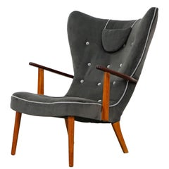 Wingback Lounge Chair Pragh by Ib Madsen & Acton Schubell, Denmark, 1950s