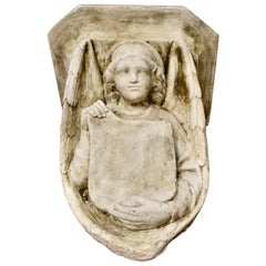 Winged Angel, Weathered Wall Bracket