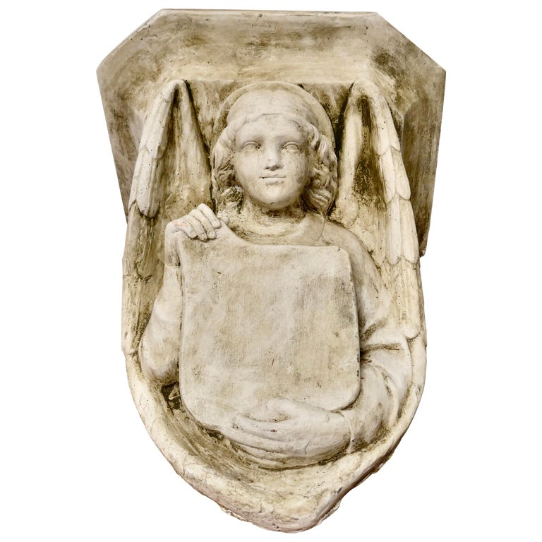 Winged Angel, Weathered Wall Bracket For Sale