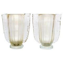 Winged Murano Vase by Sergio Costantini