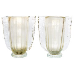 Winged Murano Vases by Sergio Costantini, Pair