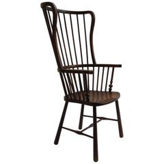 Winged Windsor Armchair in Birch and Ash from Early 1900s B