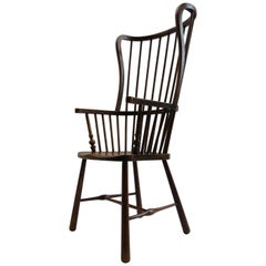 Winged Windsor Armchair in Birch and Ash from Early 1900s