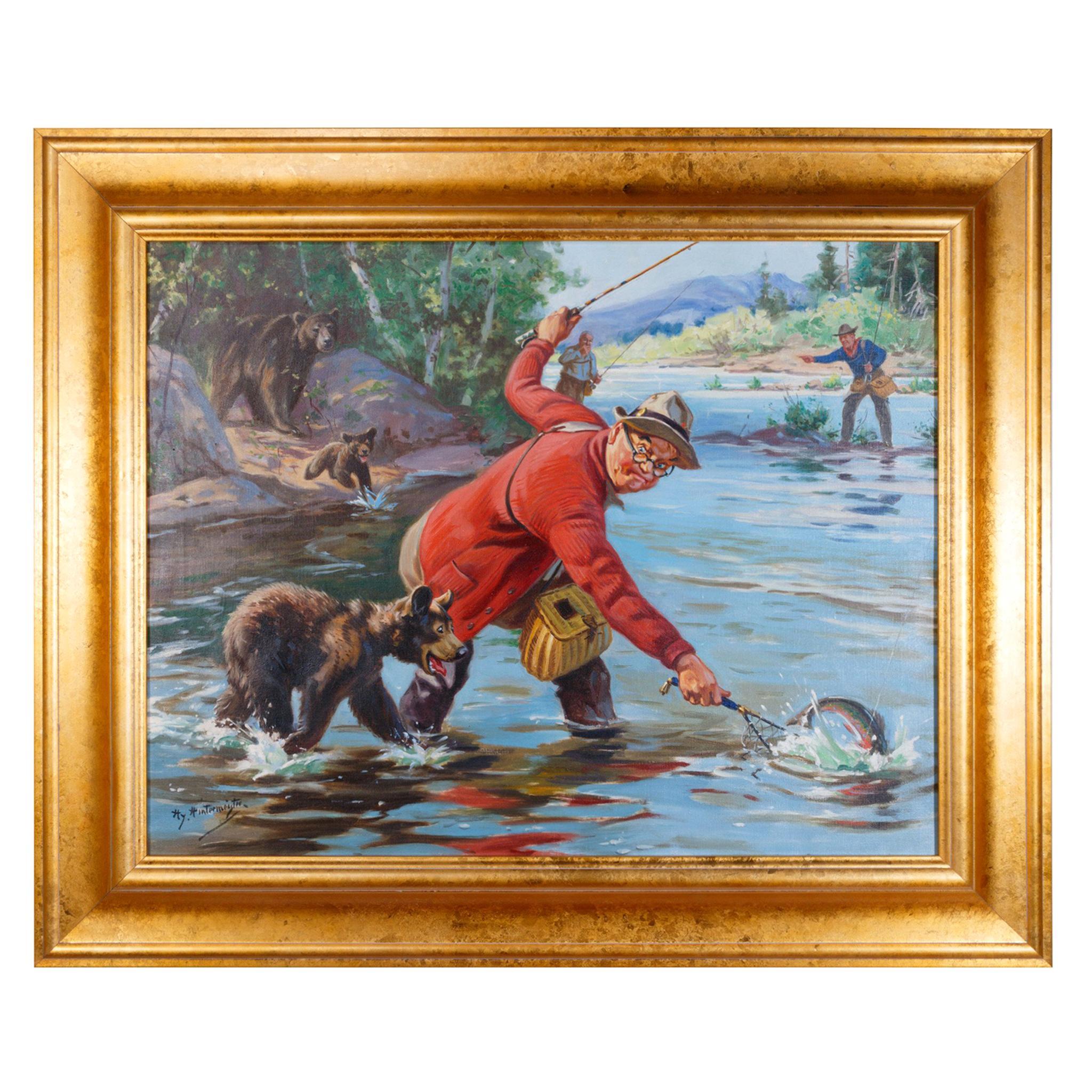 """Winner Takes All"" Original Oil Painting by Henry Hintermeister"
