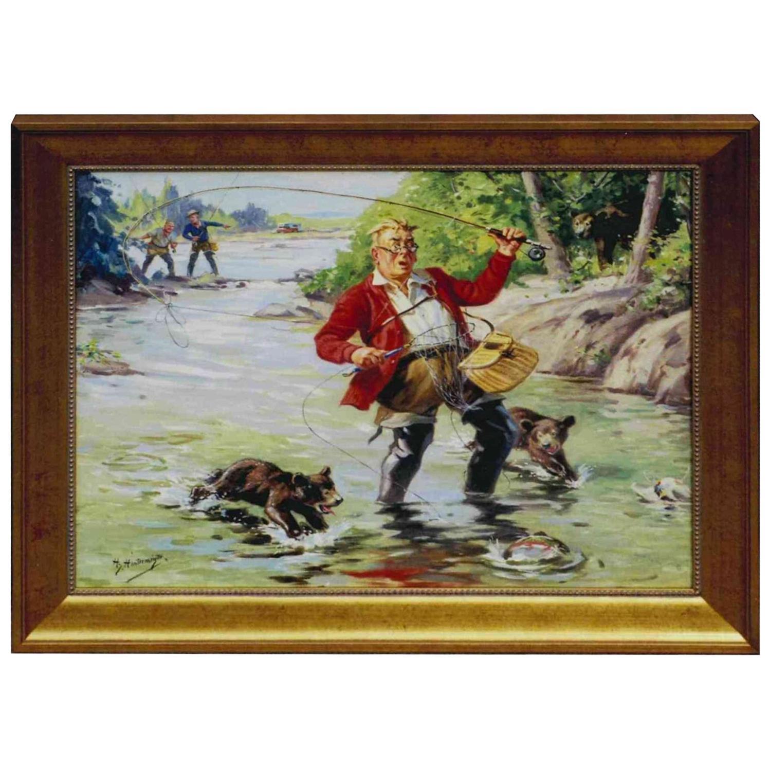 Winner Takes All Original Oil Painting by Henry Hintermeister