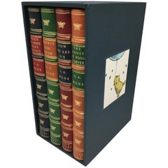 Winnie the Pooh Set of American First Editions in Special Leather Bindings