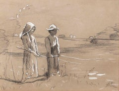 Fishing, Figurative and Genre work by Winslow Homer (1836-1910, American)