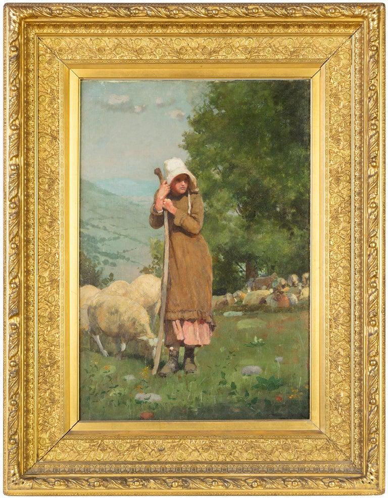 <i>The Shepherdess</i>, 1879, by Winslow Homer