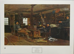 """""""Country Store"""" 1966 New York Graphic Society Print After Winslow Homer"""