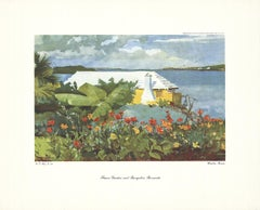 "Winslow Homer-Flower Garden and Bungalow, Bermuda-15"" x 18.5""-Poster-1947"
