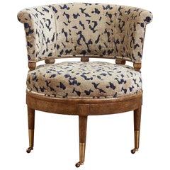 Winston Barrel Library Chair by Badari