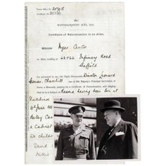Winston Churchill genuine 1911 signed document and original press photographs