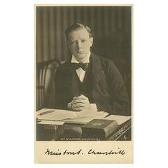Winston Churchill Signed Photograph