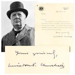 Winston Churchill Vintage 1951 Signed 'Christmas Turkey' Letter