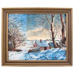 """Winter Landscape"" Painting"