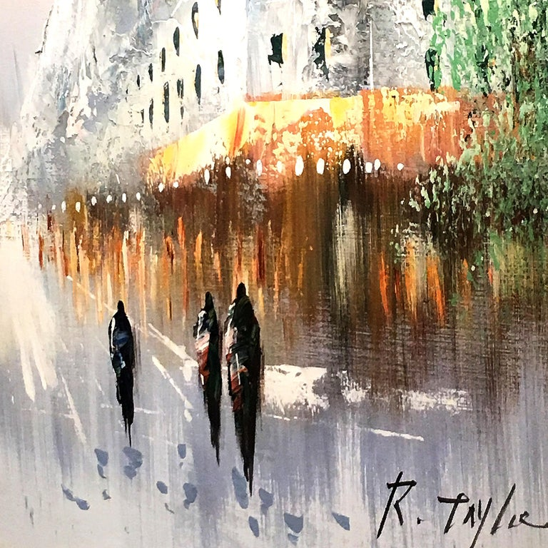 Winter Scene Painting by R. Taylor For Sale 5