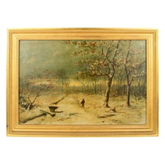 Winter Scene Landscape  Painting