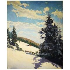 Winter Snow, DEgen KArl, oil on canvas painting, 1920