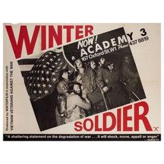 """""""Winter Soldier"""" 1972 British Quad Film Poster"""