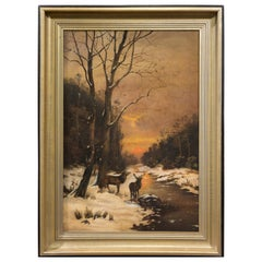 Winter's Afternoon, Oil on Canvas by J. Macculloch, circa 1880