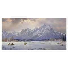 """""""Winter's Expanse"""" Original Oil Painting by Greg Parker"""