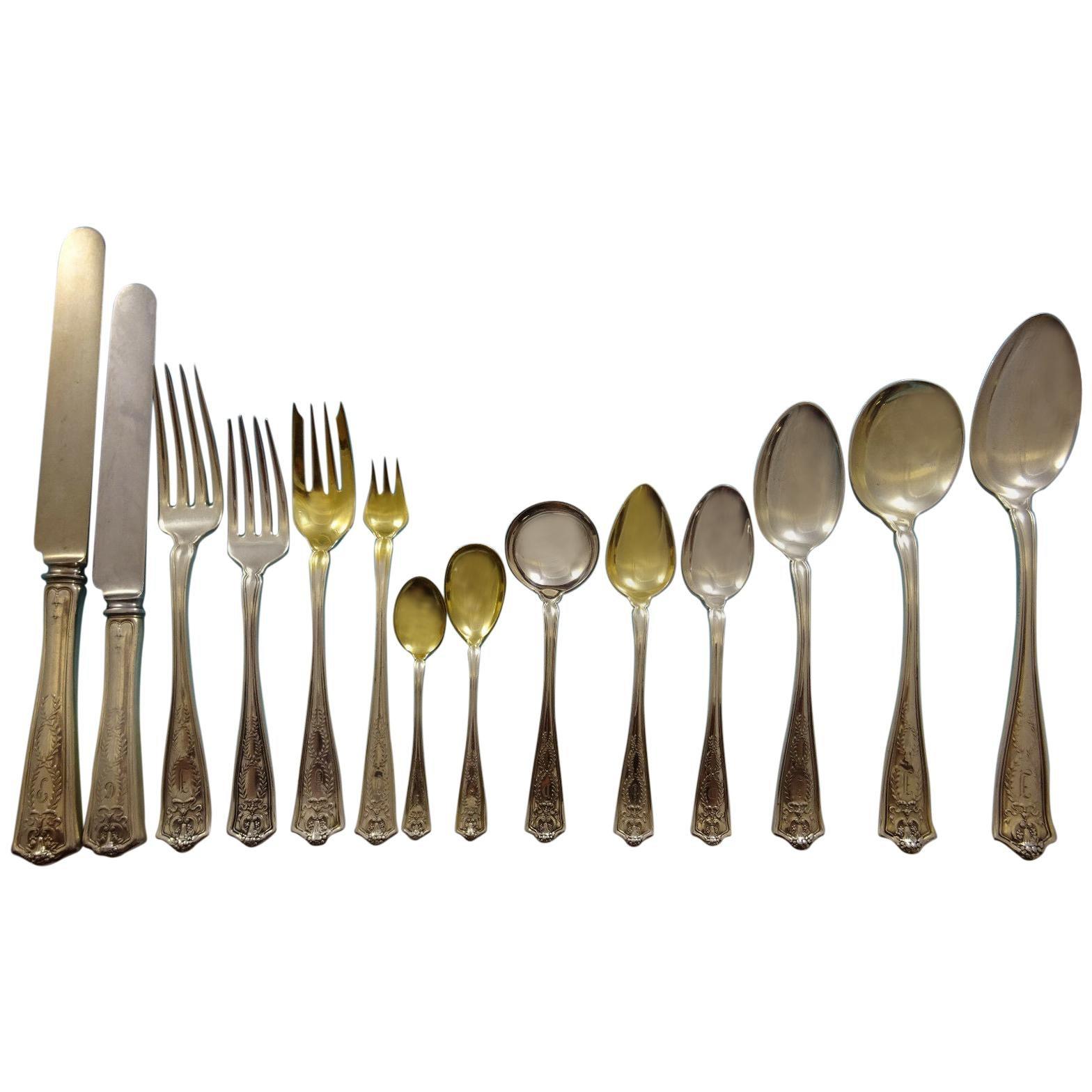 Winthrop by Tiffany & Co Sterling Silver Flatware Set 8 Service 112 Pcs Dinner