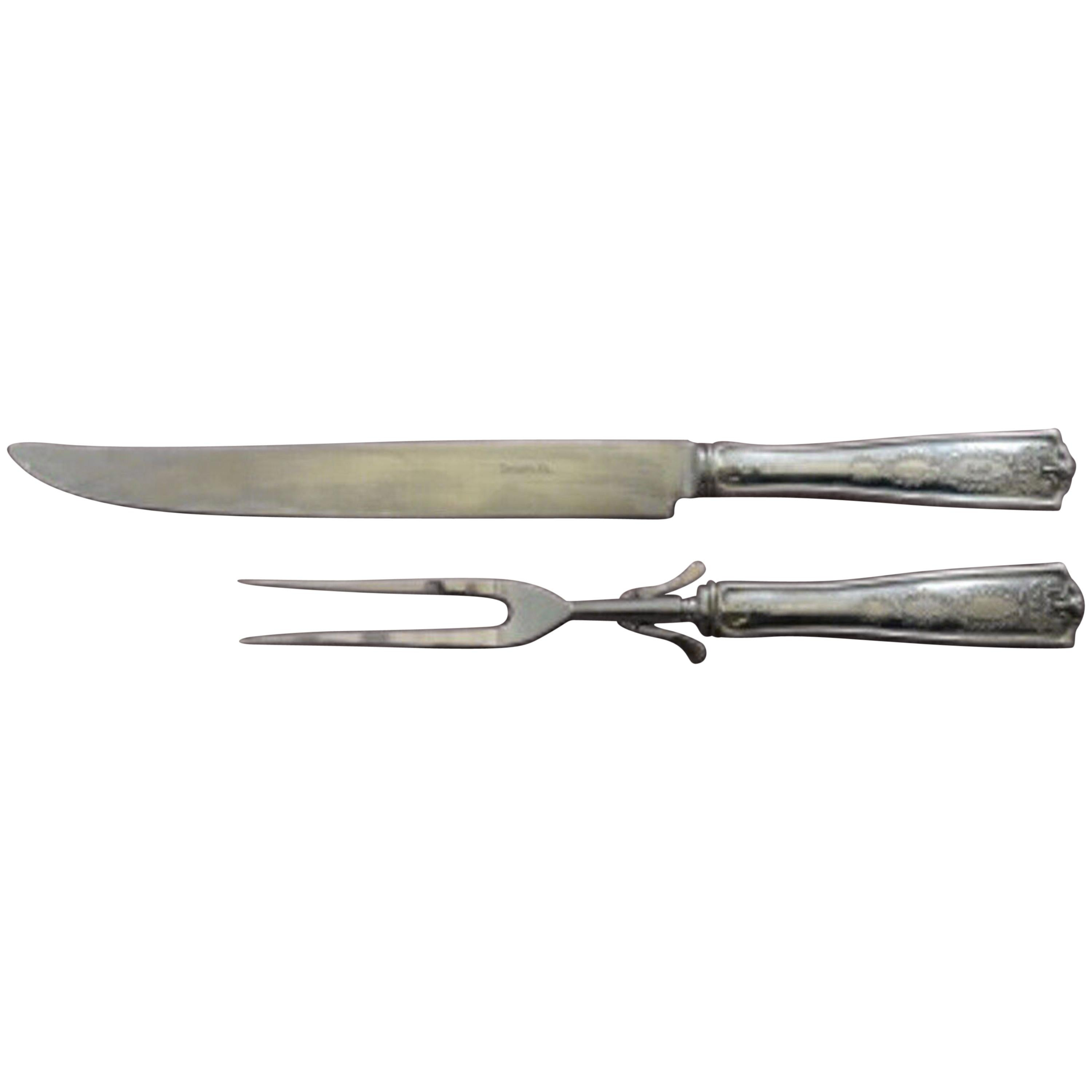 Winthrop by Tiffany & Co. Sterling Silver Roast Carving Set 2-Pc HH WS Antique