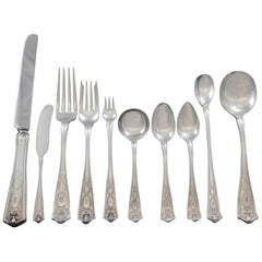 Winthrop by Tiffany Sterling Silver Flatware Set 12 Service 125pc Dinner B Mono