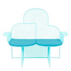 Wire Cloud Bench in Aqua by Bend Goods