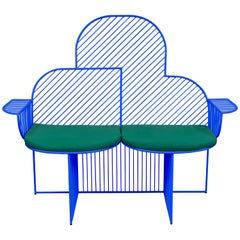 Wire Cloud Bench in Blue by Bend Goods