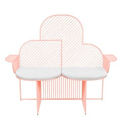 Wire Cloud Bench in Pink by Bend Goods