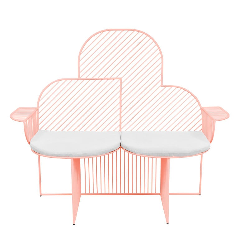 Wire Cloud Bench in Pink by Bend Goods For Sale