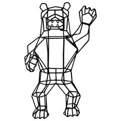 "Wire Decor ""Marching Bear"" in Black by Bend Goods"