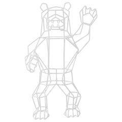 "Wire Decor ""Marching Bear"" in White by Bend Goods"