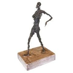 Wire Figurative Sculpture, Signed Kujawa, 1975