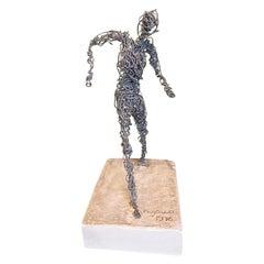 Wire Figurative Sculpture, Signed Kujawa, 1976
