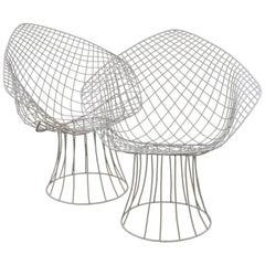 Wire Framed Harry Bertoia Indoor/Outdoor Chairs