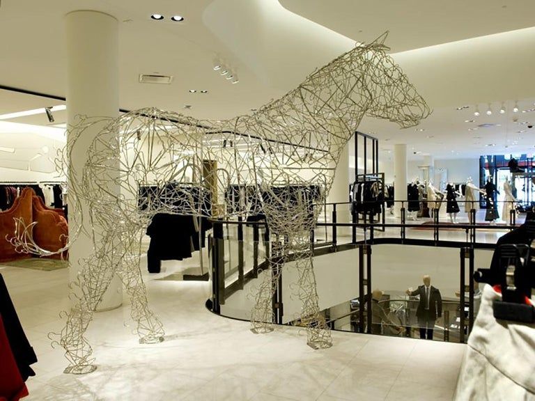 This Monumental Horse sculpture was created for Barney's New York when the new Saudi investors rebranded their Flagship stores across the country in 2006. It was a collaboration between the artistic director Simon Doonan and New York Artist Terence