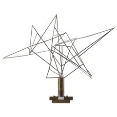 Wire Sculpture Constructivist / Geometric Abstract by Lancelot Elysee Samson