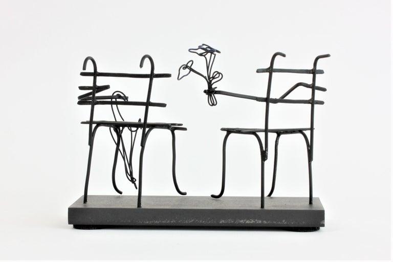 French Wire Sculpture, Premier Rendez-Vous For Sale