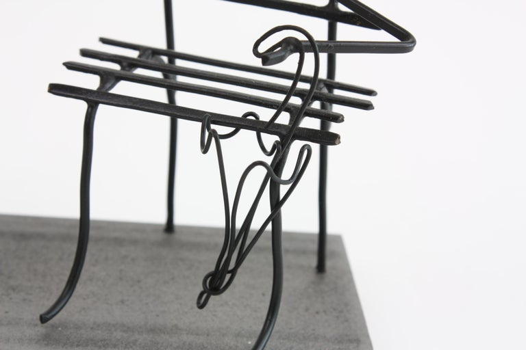 Wire Sculpture, Premier Rendez-Vous In New Condition For Sale In Mareil-Marly, Yvelines