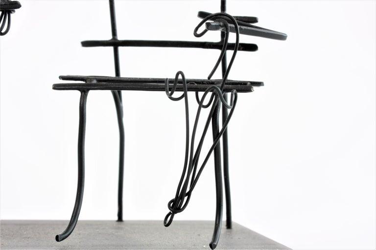 Contemporary Wire Sculpture, Premier Rendez-Vous For Sale