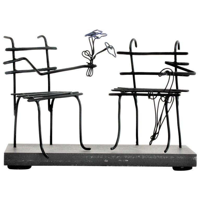 Wire Sculpture, Premier Rendez-Vous For Sale