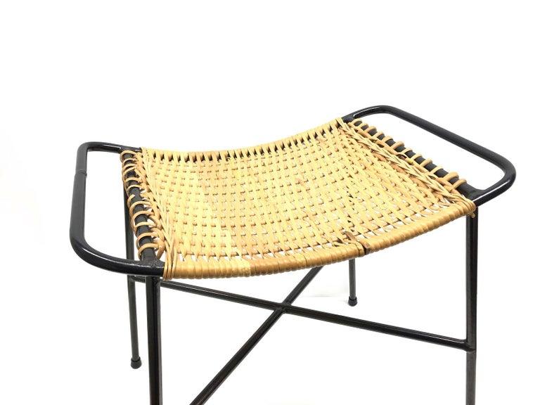 Awe Inspiring Wire Wicker Work Mid Century Modern Footrest Ottoman Stool String Style 1950S Evergreenethics Interior Chair Design Evergreenethicsorg